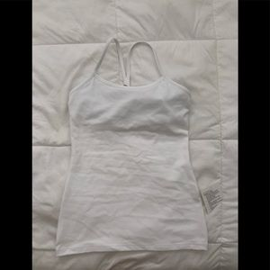 Nwt lululemon power y tank luon 6 white